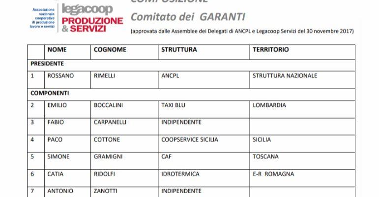 """PACO COTTONE ELETTO CONSIGLIERE NEL COMITATO DEI GARANTI DI """"LEGACOOP PRODUZIONE SERVIZI"""""""